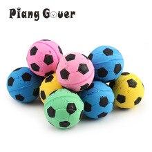 10 pçs/lote Footaball Espuma de EVA Colorido Bola Gato Brinquedo Brinquedo de Estimação Brinquedos do Jogo Ao Ar Livre Brinquedos do animal de Estimação