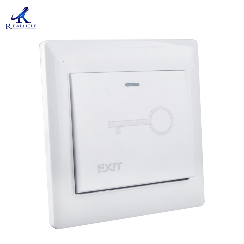One Push To Open Door Button For Access Control Standalone Single Door Controller Plastic Material Door Access Exit Button
