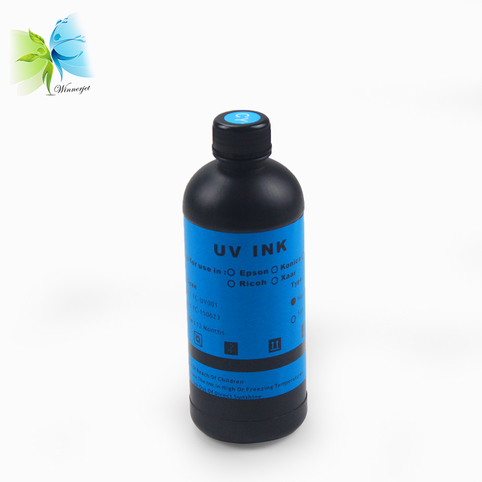 Winnerjet 4 color UV ink For Epson dx5 dx7 V540 TX800 P600 printhead UV Flatbed printer for glass metal acrylic printing in Ink Refill Kits from Computer Office