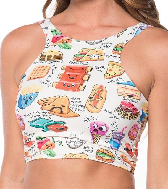 03177772e26fe Women Tank Tops Sexy Hamburg Hot Food Sleeveless T Shirt Clothes Yoga Gym Running  Lady Vests