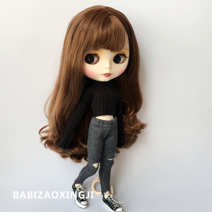 1/6 Blyth Doll Clothes Doll Accessories For Pullip Fashion Sweater + Pants For Blyth Clothing 30cm Doll Jeans For Barbi Shirt