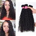 Rosa produtos para o Cabelo Brasileiro Curly Virgem Cabelo 3 pcs Brasileira onda Profunda Extensão Do Cabelo Humano brasileiro virgem molhado e ondulado cabelo