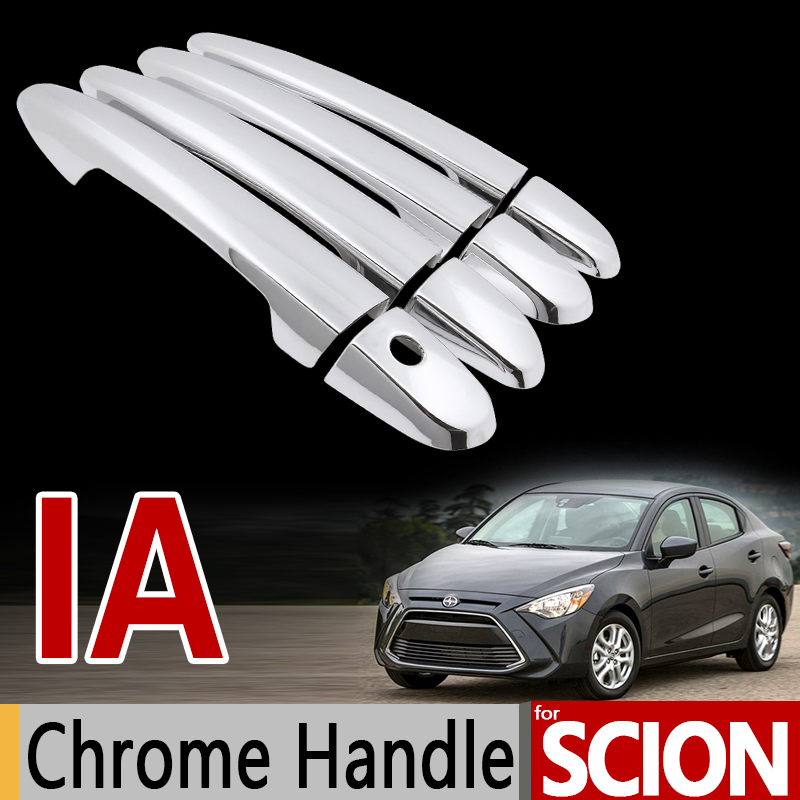 for Scion iA for Toyota Yaris iA Chrome Door Handle Cover Trim Set 2013 2014 2015 2016 2017 Accessories Stickers Car Styling for toyota isis platana 2004 2015 chrome handle cover trim set 2005 2006 2007 2008 2010 2012 2013 2014 accessories car styling