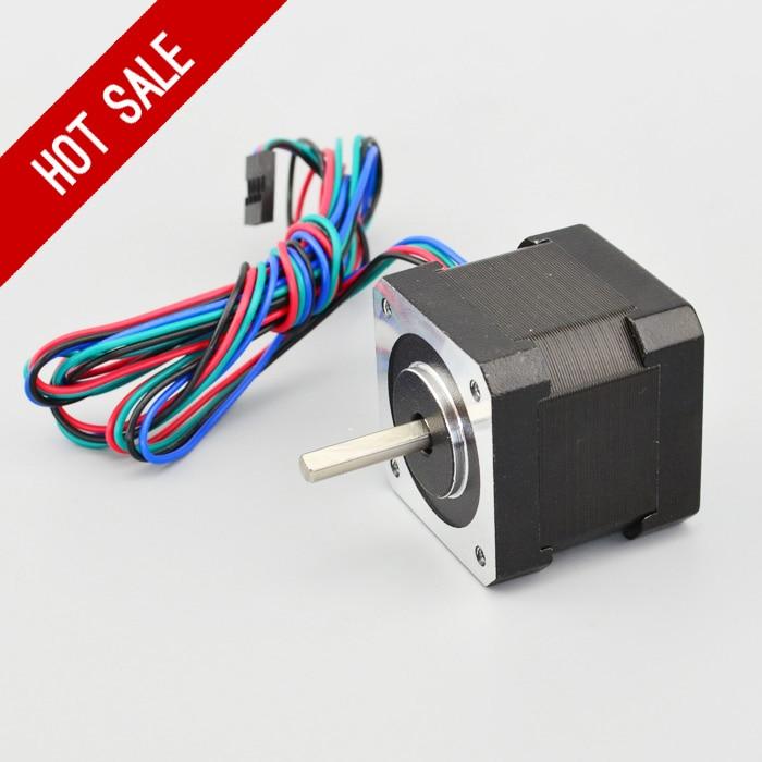 Nema 17 Stepper Motor Nema 17 Bipolar 2A 1m Cable ( 17HS16-2004S1) for 3D Printer CNC Robot Reprap Prusa 5pcs nema 14 stepper motor 25 5oz in 18ncm 5 4v 0 8a bipolar 3d printer makerbot 3d printer prusa makerbot reprap cnc robot