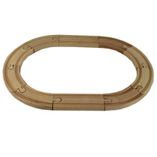 1 SET 8PCS Beech Wood Thomas Train Oval Track Railway Vehicle Accessories Toys, Oval Ellipse Wood  Track Diameter 36CM