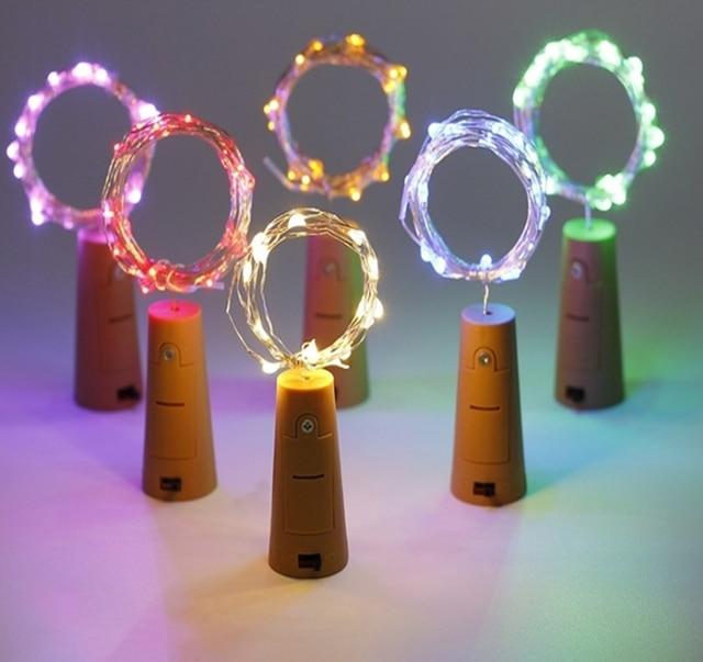 1212be6fbcb Botella de vino de las luces LED de la batería de forma estrellada luces de  cadena ...