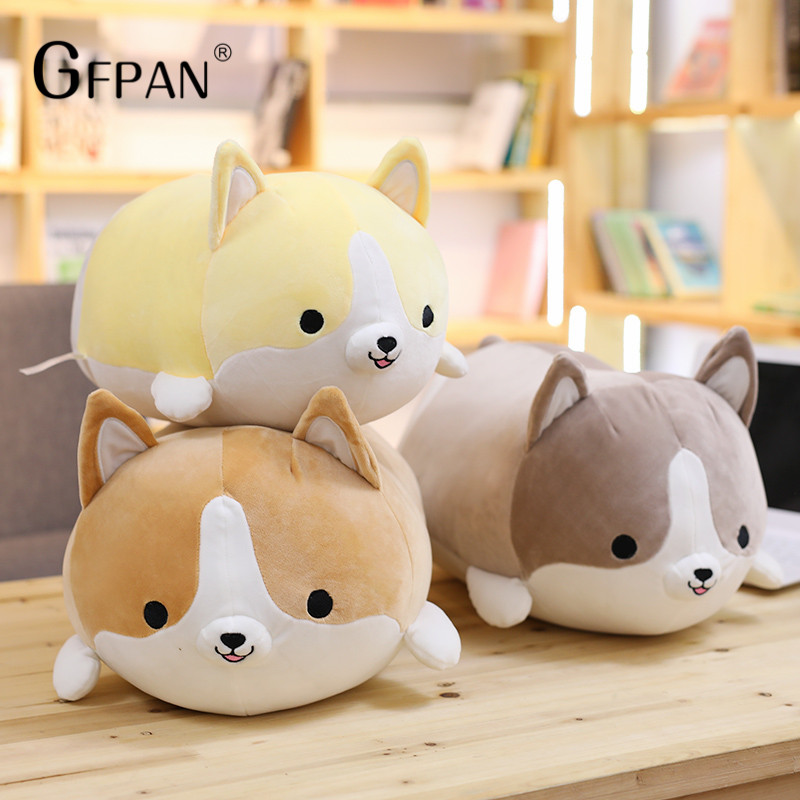 1 pcs 60cm Kawaii Corgi Dog Plush Toy Stuffed Soft Animal Cartoon animal Pillow Lovely doll Best Christmas Gift for Kids Baby 43inch papa plush dog 110cm kawaii soft animal oversize dog cute pap stuffed pusher pillow doll porcelain toys bouquet doll