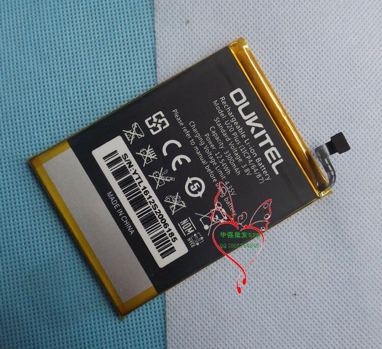 D'origine U20 plus la Batterie Nouveau 5.5 pouces oukitel u20 plus Mobile Téléphone Batterie 3300 mAh LIVRAISON GRATUITE avec Numéro De Suivi