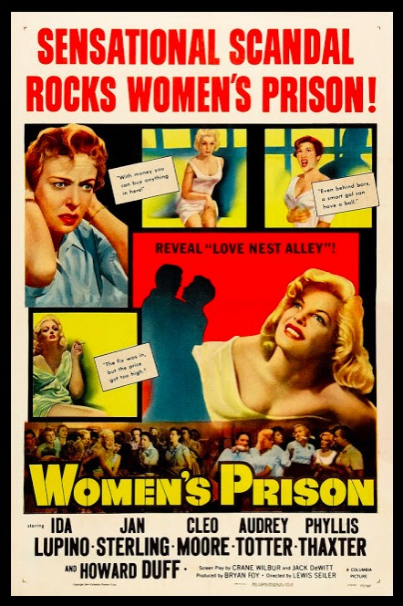 Women's Prison Sexy Beauty Classic Movie Film Noir Retro Vintage Poster Canvas Painting DIY Wall Paper Home Decor Gift image