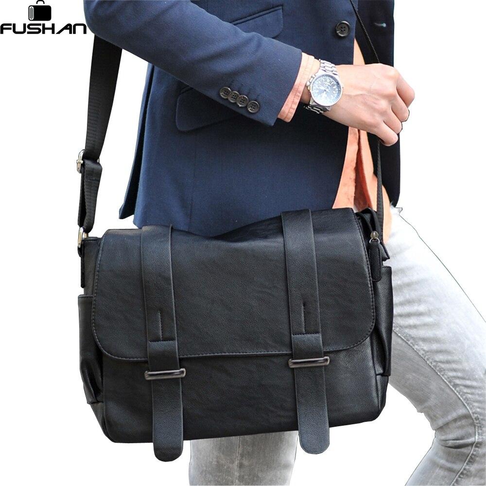ФОТО Brand design Top PU Leather  men bag,casual business leather men messenger bag,vintage fashion men Shoulder bags Laptop bag