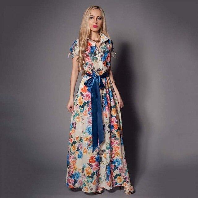 Bohemian Women Long Dress...