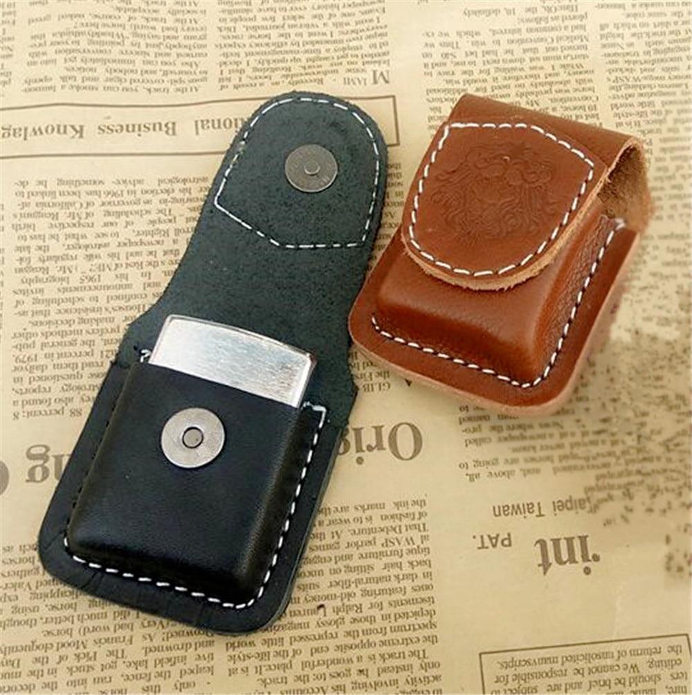 US $9 36 |Cigarette Lighter Case Leather Lighter Holder Pouch Box Loop for  flat Zippo Lighter Case leather sheath no Lighter-in Cigarette Accessories