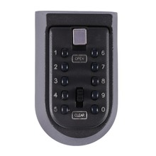 Hide Key Lock Box 10 Digit Combination Password Push Button Storage Wall Mount Security Outdoor Case Zinc Alloy Secret Safe