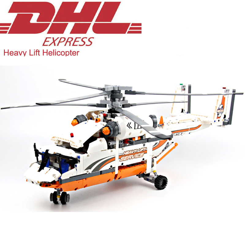 2018 New 1060Pcs Technic Figures Heavy Lift Helicopter Model Building Kits Blocks Bricks Toys For Children Gift Compatible 42052 heavy lift helicopter diy building bricks blocks figures toys for children boys game model gift compatible with lepins 3d model