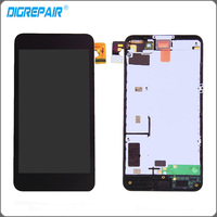 New Black For Nokia Lumia 630 635 LCD Display Touch Screen Digitizer Full Assembly With Bezel