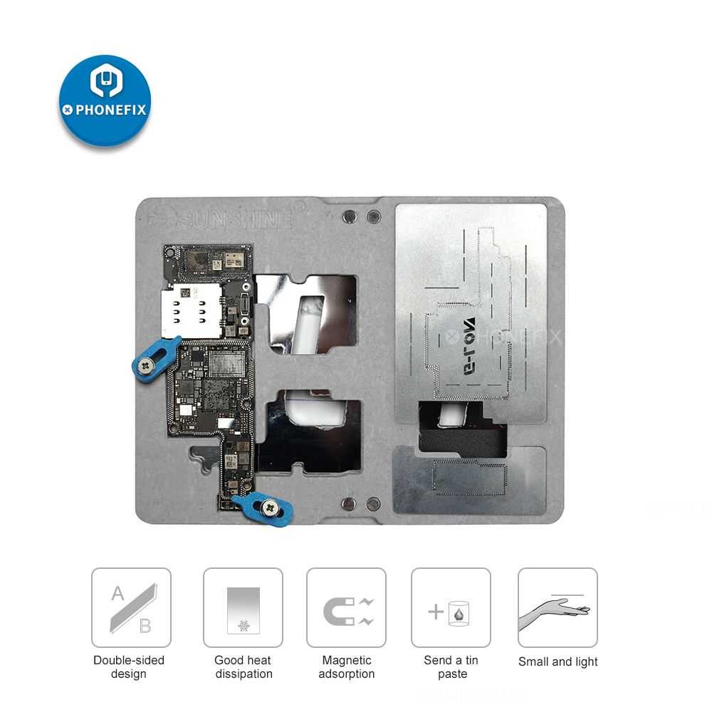 G-LON SS-601K Motherboard Tinning Fixture For Iphone X XS MAX Middle Layer Soldering Holder Fixture Duble-sided Magnetic Fixed