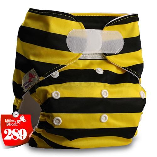 [Littles&Bloomz] Детские Моющиеся Многоразовые, настоящая стандартная ткань, застежка-липучка, карман для подгузников, пеленки, обертывание, подходит для рождения в горшке - Цвет: 289