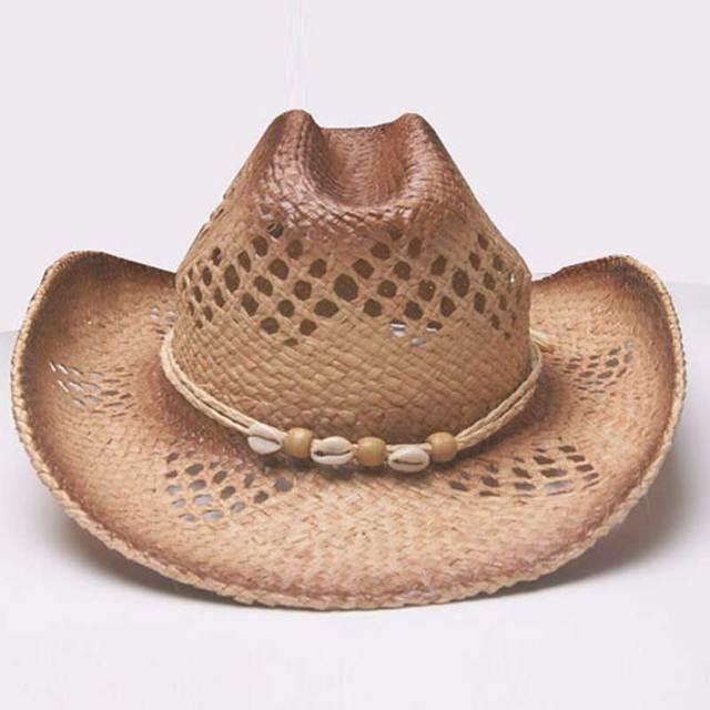 6pcs 2018 Handmade Cowboys Western Summer Cap Natural Raffia Straw Hats for Men  Women Cowgirls Beach Wide Brim Sun Hat Wholesale 7fc919a66ce3
