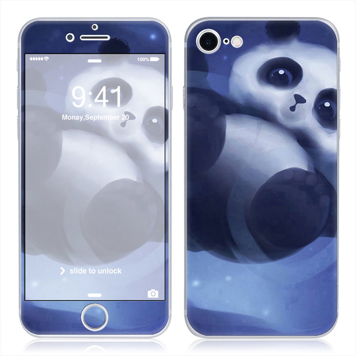 Free drop shipping For iPhone7 Mobile Phone Fitted sticker For Apple iPhone 7 Cover baby panda#TN-i7-0794