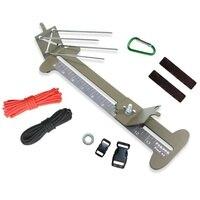 Outdoor Paracord Jig Bracelet Maker Tool Kit Adjustable Metal Weaving DIY Craft Maker Bracelet Knot Tool