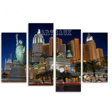 цена на New 5d diy diamond painting cross stitch free goddess USA city landscape full square diamond embroidery mosaic gift
