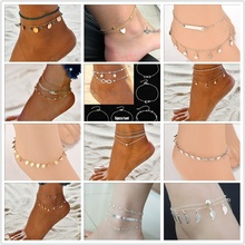 2019 Initial Anklet Women Leg Chain Gold&Silver Seashell Beach Tassel Shell  For Bohemian Anklets Jewelry