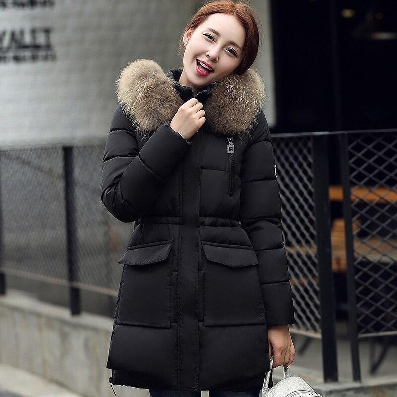 KUYOMENS Fashion Winter Jacket Women Cotton Padded Jacket Women Thick Female   Parka   Warm Long Jackets Ladies Overcoat