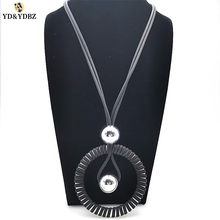 цена на YD&YDBZ Fashion Silver Color Big Steel Bead Suspension Jewelry Necklace Pendant Necklace Vintage Style Women High Quality Choker