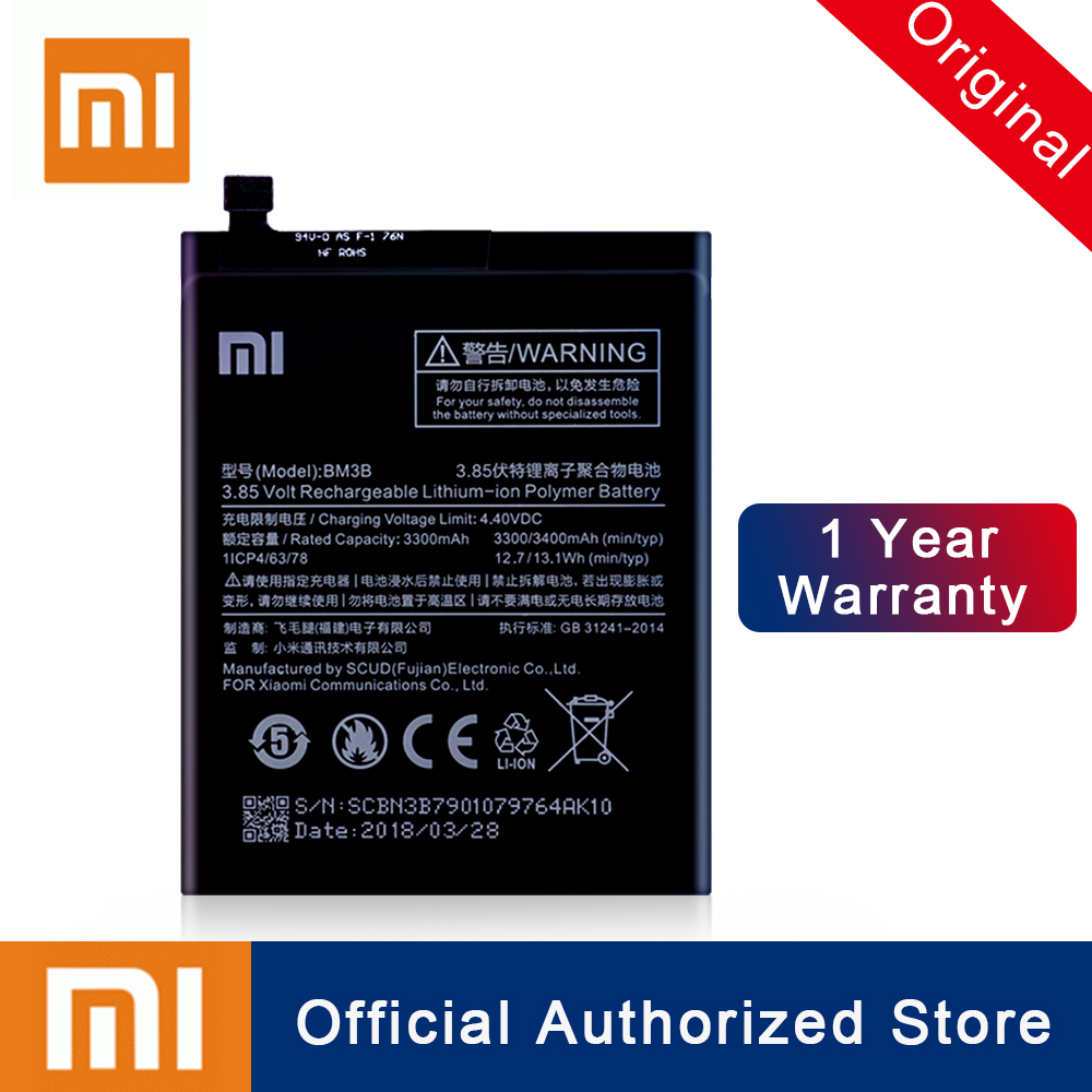 Xiao <font><b>Mi</b></font> Original <font><b>Battery</b></font> BM3B For Xiaomi <font><b>mix</b></font> 2 <font><b>2S</b></font> 3300mAh High Capacity Rechargeable Phone Replacement Batteria Akku Free Ship image