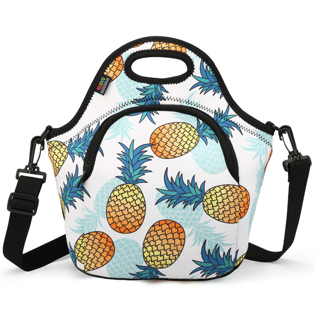 Insulated Lunch Bag, Neoprene Lunch Tote Reusable Picnic Bag Soft Thermal Cooler Tote Multi-purpose Grocery Container