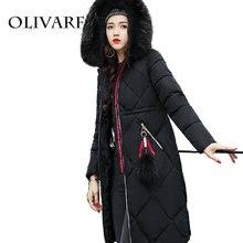 Cor Mulheres de Inverno Com Capuz Preto Casaco de Lã Luva Cheia de Outono Feminina inverno Quente Casacos Longos Outwear Voltar Lace Up Algodão roupas