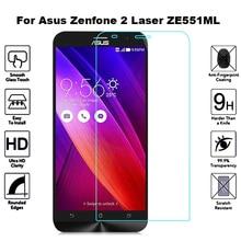 2 шт закаленное стекло для Asus Zenfone 2 Laser ZE551ML защита экрана Flim Защитное стекло для Asus Z00AD ZE ZE551 551 551 мл