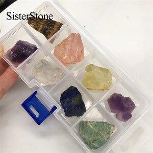 Image 5 - 8 stuks natuurlijke kwarts crystal ruwe edelstenen en mineralen healing ruwe stenen als geschenken