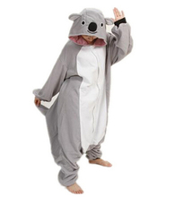 free pp 2015 Hot Selling Hoodies Unisex Adult Cosplay Costume Women Sleepwear Pajamas Gray Koala Animal Pajamas Onesies