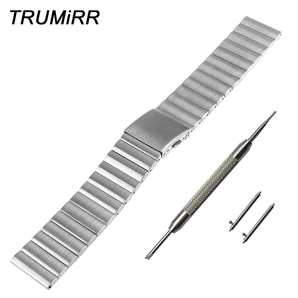22mm Stainless Steel Watch Band Bracelet Strap w/ Quick Release Pin for Samsung Galaxy Gear 2 R380 R381 R382 Moto 360 2 46mm стоимость