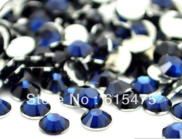 2mm Montana Cor SS6 strass Resina cristal flatback, Frete Grátis 100,000 pçs/saco
