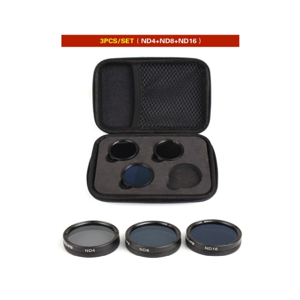 Snap on Filters Set 3Pcs ND4/8/16 Multi-layer Coating Lens Filter Kit for for DJI Phantom 4 PRO/ PRO+/Advanced+ Free Shipping