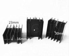 10 шт. к-220 heatsink23 * 16-30 мм/Транзистор радиатор/алюминиевый радиатор