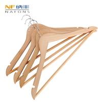4 PCS Wooden Clothes Hangers Natural Coat Non Slip Wardrobe Storage Hangers