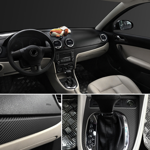 Image 5 - 3D Carbon Fiber Vinyl Car Wrap Sheet Roll Film Car stickers and Decals Motorcycle Car Styling Accessories Automobiles