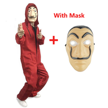 Salvador Dali Cosplay Costume La Casa De Papel Face Fancy Party Halloween Costume For Kids Adult  Women and Men
