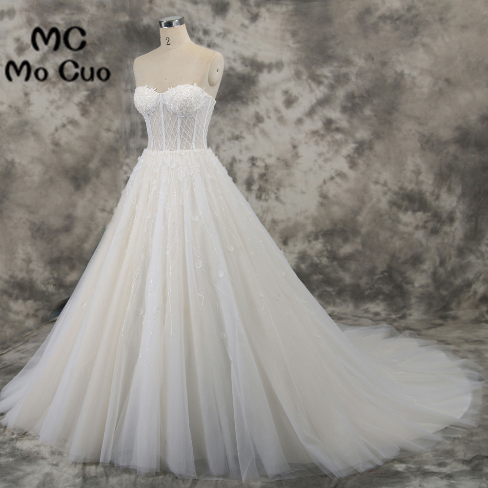 Elegant 2018 Ball Gown Wedding Dresses Illusion Bridal Gowns ...