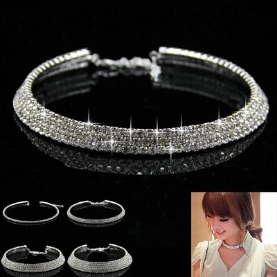 Fashion Hot Sale Star Style New Women Shiny Crystal Rhinestone Collares Necklace Choker Necklaces Wedding Birthday Jewelry ...