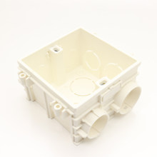 Size 86*86mm Cassette Universal White Wall Mounting Box for EU/UK Socket Back Box and Wall Light Touch Switch(China)