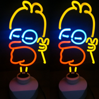 Neon LED Night Light Table Lamp Holiday Party Home Decoration Flamingo Ice Cream Table Lamp Christmas Day Gift Glass Neon Light