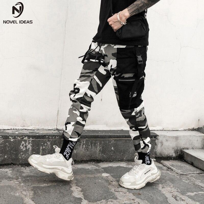 Nouvelles idées couleur Camo Cargo pantalon 2018 hommes mode Baggy tactique pantalon Hip Hop décontracté coton Multi poches pantalon Streetwear