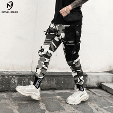 Novel ideas Color Camo Cargo Pants 2018 Mens Fashion Baggy Tactical Trouser Hip Hop Casual Cotton Multi Pockets Pants Streetwear multi pockets drawstring cuff camo cargo pants