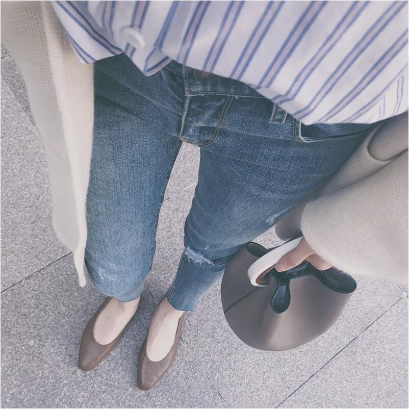2017 Summer New Fashion casual pencil Jeans Women large size straight 9 points Pants studio m new white black women s size large l printed straight pencil skirt $78