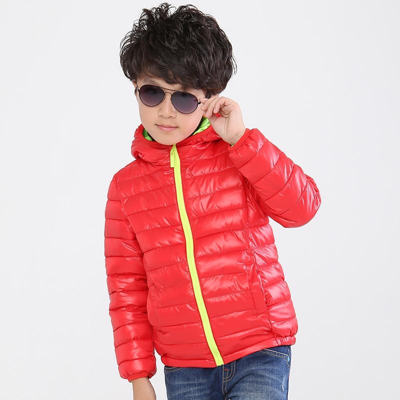 Boys Girls Outerwear Boys Down Coat Girls Jackets Duck Feather Children's Autumn Winter Jackets Size4-12