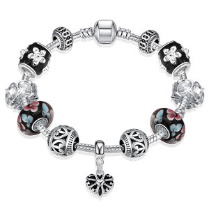 925 Sterling Silver Beaded Cha